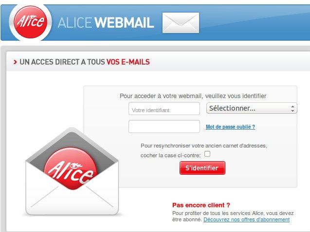 Alice Webmail