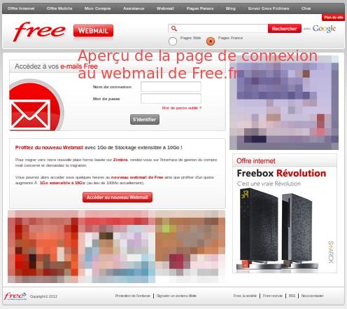 Webmail de free : imp.free.fr